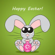Easter card with cute bunny (rabbit), vector illustration — Stock Photo