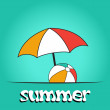 Stock Photo: Pretty summer background, vector