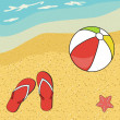 Pretty summer background, vector — Stock Photo #22987994