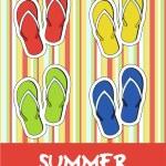 Pretty funny summer (beach) icon set, vector — Stock Photo