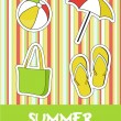 Pretty funny summer (beach) icon set, vector — Stock Photo #22988002
