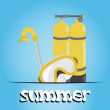 Stock Photo: Summer underwater (scuba) background, vector