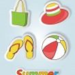 Pretty funny summer (beach) icon set, vector — Stock Photo #22988066