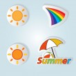 Pretty summer background, vector — Stock Photo