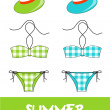 Set of pretty summer icons, vector — Stock Photo