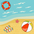 Pretty summer background, vector — Foto de Stock