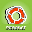 Summer vector background with ring-buoy — 图库照片