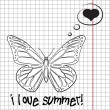 Pretty summer background with butterfly, vector — Stock Photo #22988200