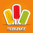 Pretty summer background with ice cream, vector — Stock Photo