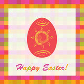 Easter card with colorful egg, vector illustration — Stock Photo