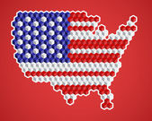 Abstract stylish colorful map of USA, vector — Stock Photo