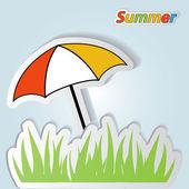Pretty summer background, vector — Stock Photo