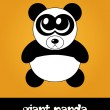 Cute cartoon panda with big eyes, vector illustration — Stock Photo #22992980