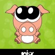 Very cute piglet with big eyes, vector — Stock Photo #22992992