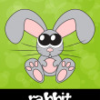 Cute rabbit with big eyes, vector illustration — 图库照片
