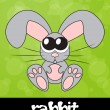 Stock Photo: Cute rabbit with big eyes, vector illustration