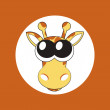 Vector illustration of cartoon giraffe with big cute eyes — Stock Photo #22993042