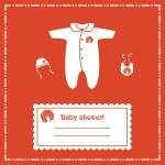 Baby shower invitation card, vector — Stock Photo