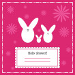 Baby shower invitation card, vector — Stockfoto