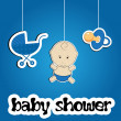 图库照片: Colorful background for baby shower, vector