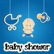 Stock Photo: Colorful background for baby shower, vector