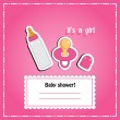 New arrival card (baby shower), invitation, vector illustration — Stock fotografie #22993434