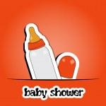 New arrival card (baby shower), invitation, vector illustration — Stock Photo