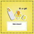 New arrival card (baby shower), invitation, vector illustration — Stock Photo #22993444