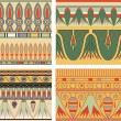 Stock Photo: Set of ancient egyptian ornament, vector, seamless pattern