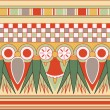 Stock Photo: Colorful ancient egyptiornament, seamless pattern, vector