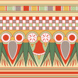 Stock fotografie: Colorful ancient egyptiornament, seamless pattern, vector