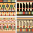 Set of ancient egyptian ornament, vector, seamless pattern — 图库照片