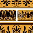 Vector set of national greek seamless ornaments (patterns) — Stock Photo #22995004