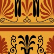 Vector set of national greek seamless ornaments (patterns) — Stok fotoğraf