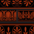 Vector set of national greek seamless ornaments (patterns) — Stock fotografie #22995010
