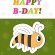 Happy birthday cute greeting card, vector illustration — Stock Photo #22995150