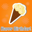 Happy birthday cute greeting card, vector illustration — Stock Photo #22995176