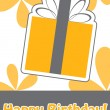 Happy birthday cute greeting card, vector illustration — Stock Photo