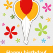Happy birthday colorful greeting card, vector illustration — Stock Photo