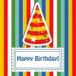 Happy birthday cute greeting card, vector illustration — Stock Photo #22995206