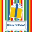 Happy birthday cute greeting card, vector illustration — Stock Photo #22995216
