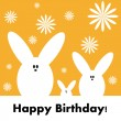 Happy birthday funny greeting card, vector illustration — Stock Photo