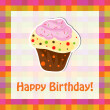 Happy birthday cute greeting card, vector illustration — Stock Photo #22995230