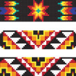 Traditional AmericIndipattern, vector illustrations — 图库照片 #22995330