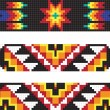 Стоковое фото: Traditional AmericIndipattern, vector illustrations
