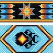 Traditional (native) American Indian pattern, vector — Foto de Stock
