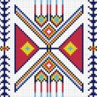 Traditional (native) AmericIndipattern, vector — Foto Stock #22995430
