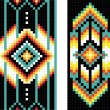Foto Stock: Traditional (native) AmericIndipattern, vector