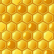 Bee's honeycomb, seamless pattern , vector illustration — Foto de Stock