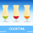 Icon set of cocktails, vector illustration — Stock Photo